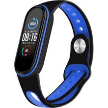Ремінець BECOVER Sport Style для Xiaomi Mi Smart Band 5 Black-Deep Blue (705166)