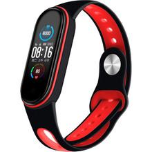 Ремінець BECOVER Sport Style для Xiaomi Mi Smart Band 5 Black-Red (705169)