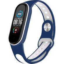 Ремешок BECOVER Sport Style для Xiaomi Mi Smart Band 5 Blue-White (705171)