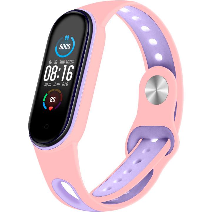 Ремінець BECOVER Sport Style для Xiaomi Mi Smart Band 5 Pink / Purple (705172)