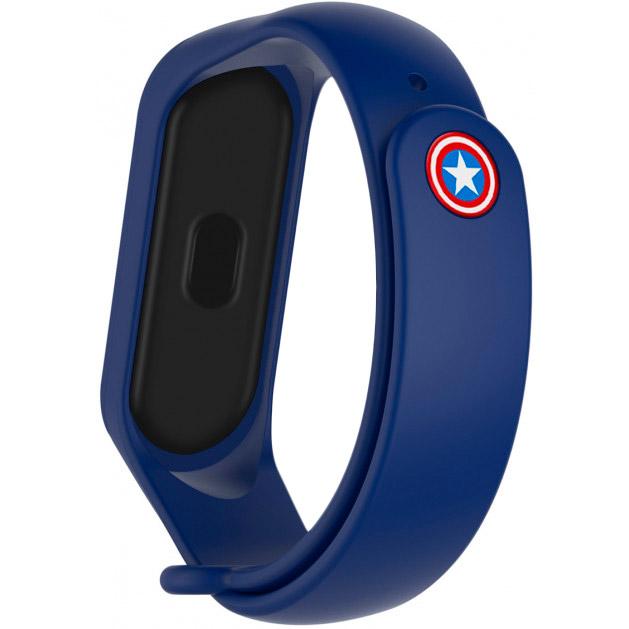 Ремінець Armorstandart Superhero Edition для Xiaomi Mi Band 6/5 Captain America Blue (ARM57108)