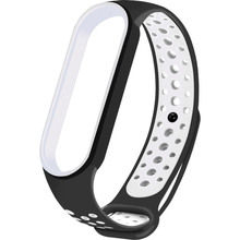 Ремешок NCASE Sport Nike для Xiaomi Mi Band 5 Black/White