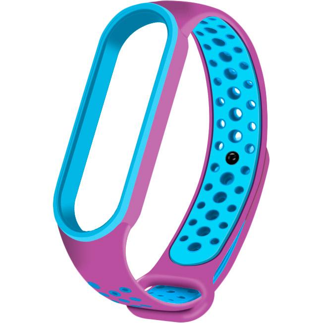 Ремінець NCASE Sport Nike для Xiaomi Mi Band 5 Purple/Blue