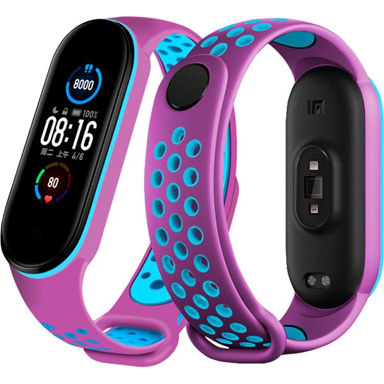 Ремінець NCASE Sport Nike для Xiaomi Mi Band 5 Purple/Blue Тип ремінець