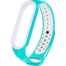 Ремінець NCASE Sport Nike для Xiaomi Mi Band 5 Turquoise/White