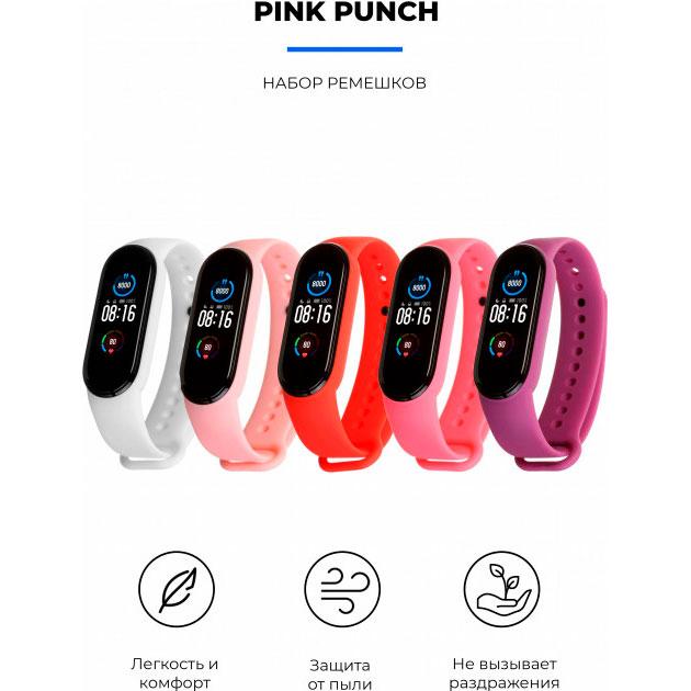 Комплект ремінців Armorstandart для Xiaomi Mi Band 6/5 Pink Punch (ARM57623) Тип комплект ремінців