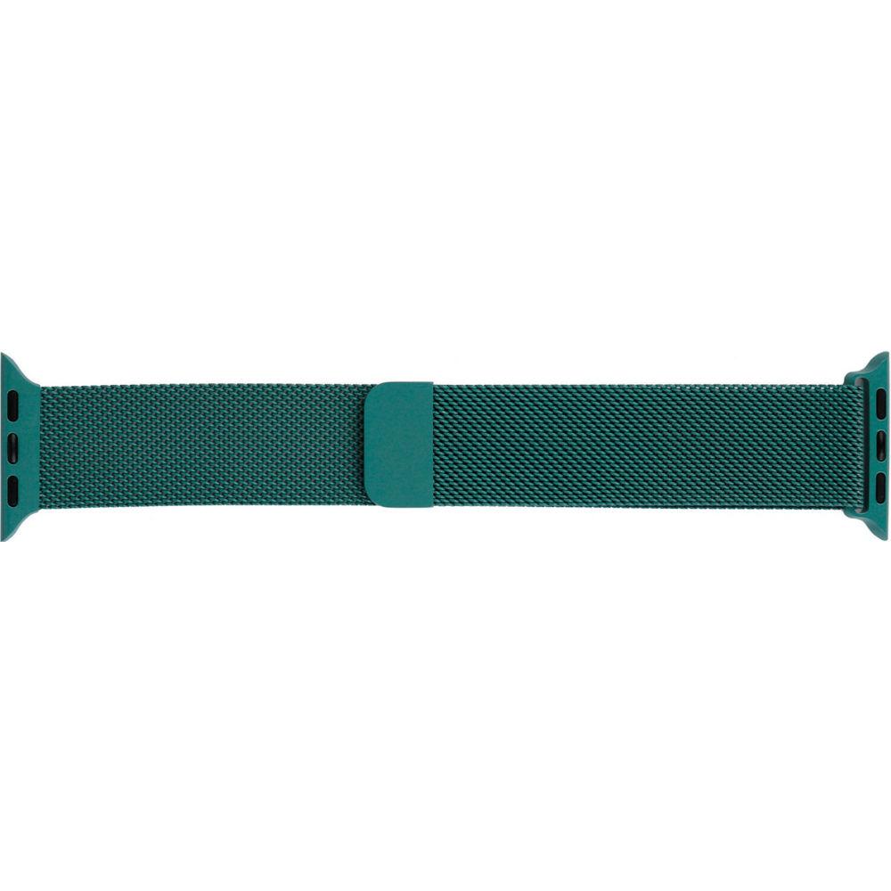 Ремінець Armorstandart Milanese Loop для Apple Watch All Series 42 44 мм Pine Green (ARM56982)