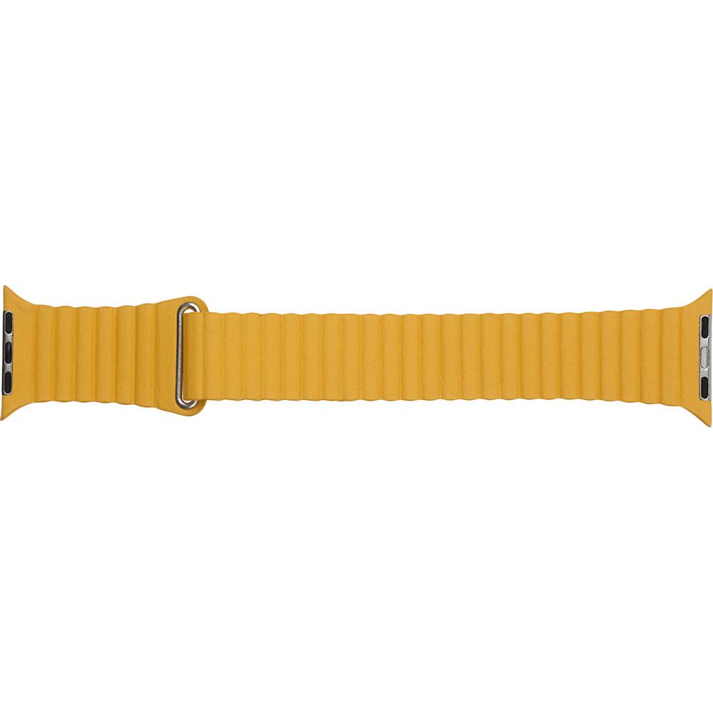 Ремінець ARMORSTANDART Leather Loop для Apple Watch All Series 38/40 мм Yellow (ARM57841)