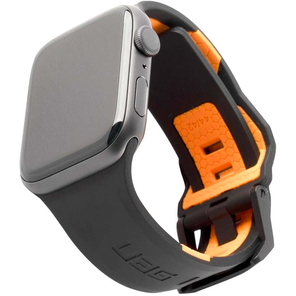 Ремешок UAG Apple Watch 44/42 Civilian Black/Orange (19148D114097)