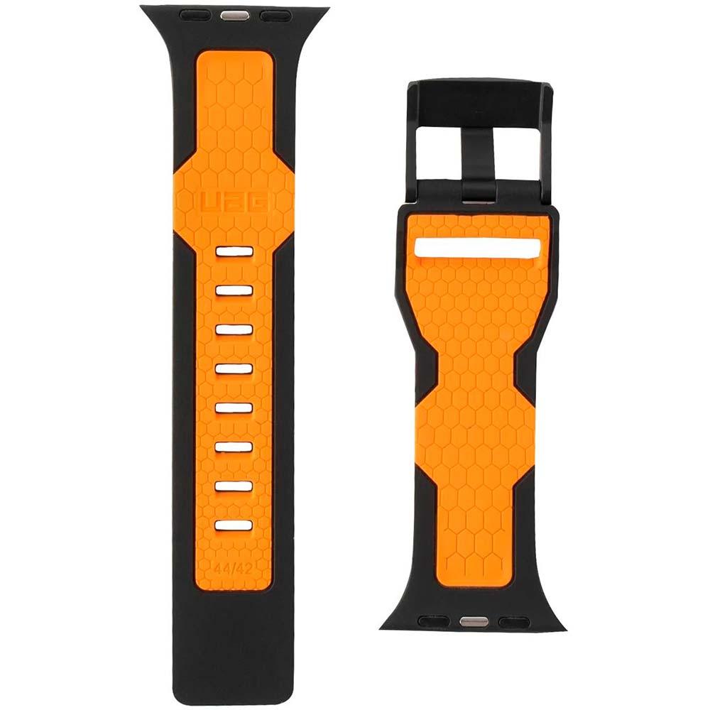Ремешок UAG Apple Watch 44/42 Civilian Black/Orange (19148D114097) Тип ремешок