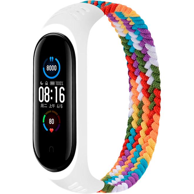 Ремінець BeCover Elastic Nylon Style для Xiaomi Mi Smart Band 5/6 Size S Rainbow (706143)