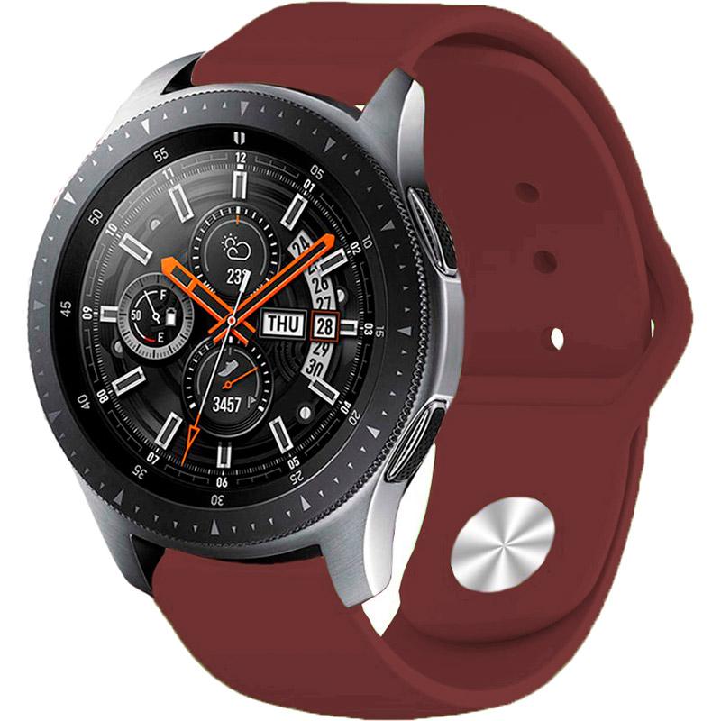 Ремінець BECOVER для Xiaomi iMi KW66 / Mi Watch Color / Haylou LS01 Dark Red (706349) Матеріал силікон