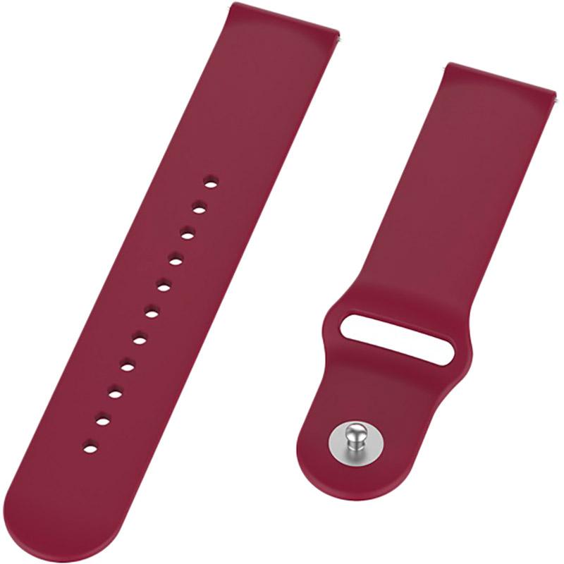 Ремінець BECOVER для Xiaomi iMi KW66 / Mi Watch Color / Haylou LS01 Dark Red (706349) Тип ремінець