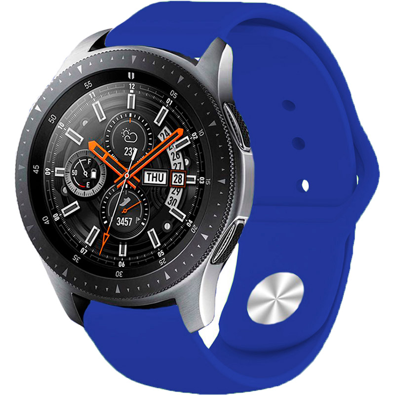 Ремешок BECOVER для Xiaomi iMi KW66/Mi Watch Color/Haylou LS01 Dark Blue (706354) Материал силикон