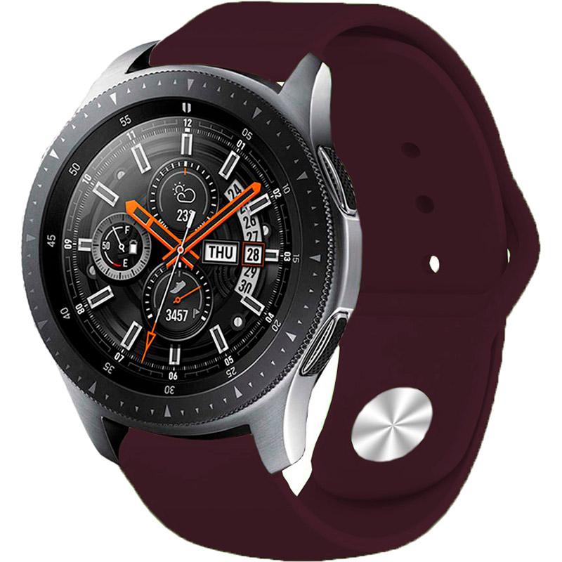 Ремешок BECOVER для Xiaomi iMi KW66/Mi Watch Color/Haylou LS01 Purple Wine (706358) Материал силикон