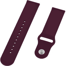 Ремешок BECOVER для Xiaomi iMi KW66/Mi Watch Color/Haylou LS01 Purple Wine (706358)