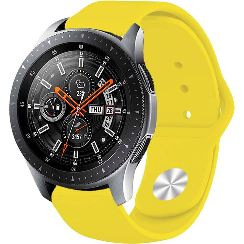 Ремінець BECOVER для Xiaomi iMi KW66 / Mi Watch Color / Haylou LS01 Yellow (706361) Матеріал силікон