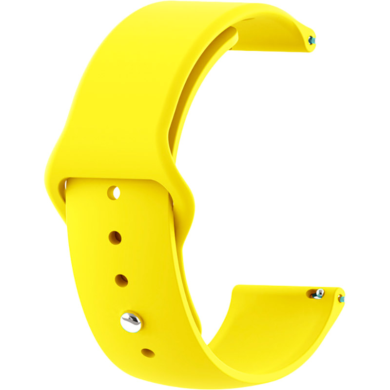 Ремінець BECOVER для Xiaomi iMi KW66 / Mi Watch Color / Haylou LS01 Yellow (706361)
