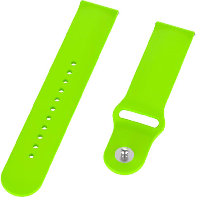 Ремінець BECOVER для Xiaomi iMi KW66 / Mi Watch Color / Haylou LS01 Lime (706363) Тип ремінець