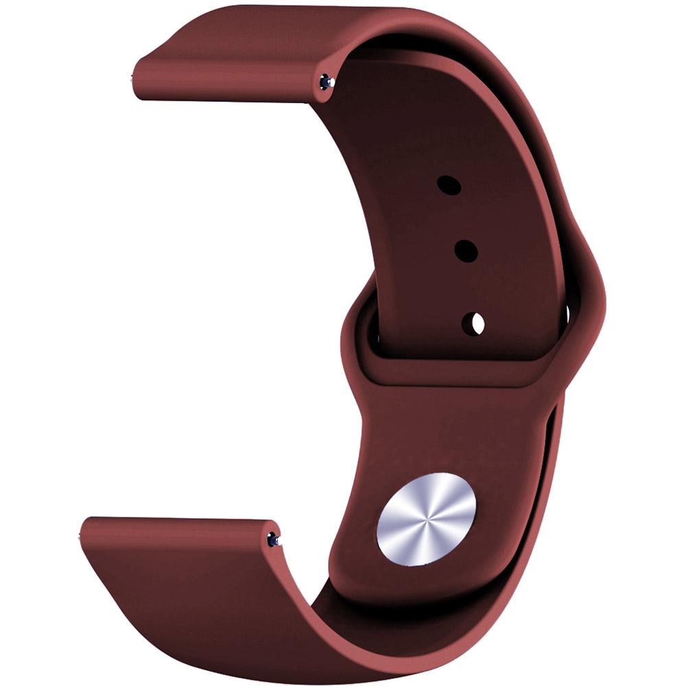 Ремінець BECOVER для Huawei Watch GT 2 42mm Dark-Red (706229) Тип ремінець