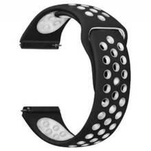 Ремешок BECOVER Vents Style Nokia / Withings Steel / Steel HR White-Black (706442)