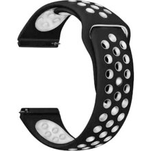 Ремешок BECOVER Vents Style Samsung Galaxy Watch 42mm / Gear Sport White-Black (706437)