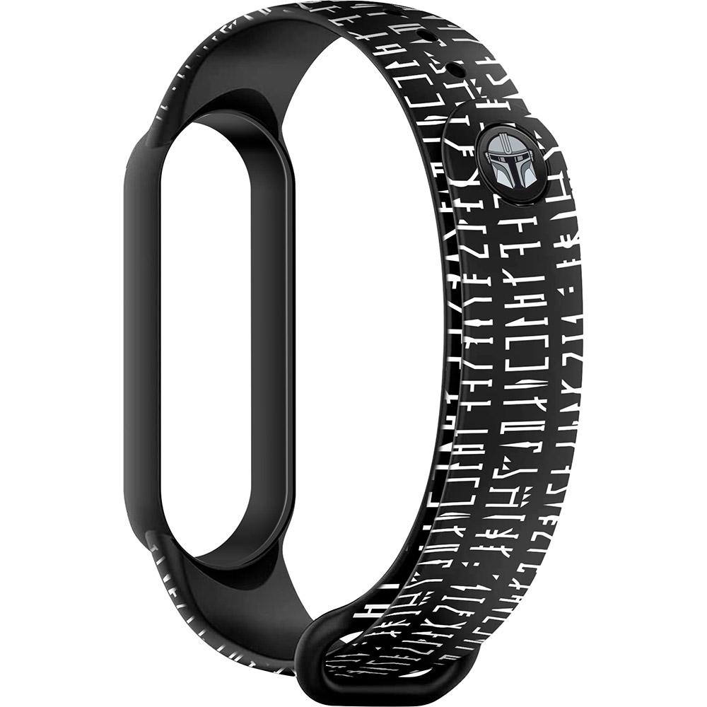 Ремешок ARMORSTANDART Dark Lord message для Xiaomi Mi Band 6/5 Black (ARM59261)