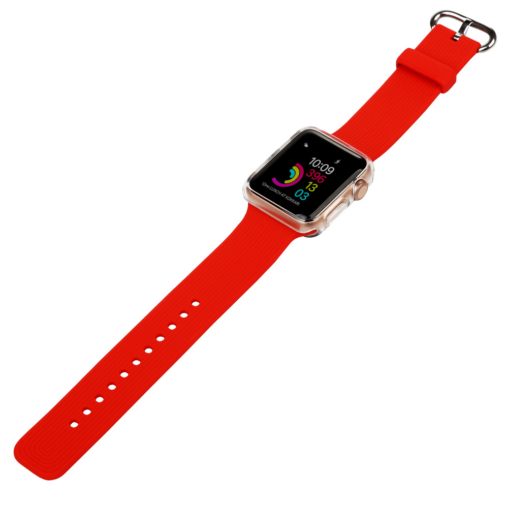 Ремінець BECOVER для Apple Watch Universal (38mm) IPH1446 Red (702359) Тип ремінець