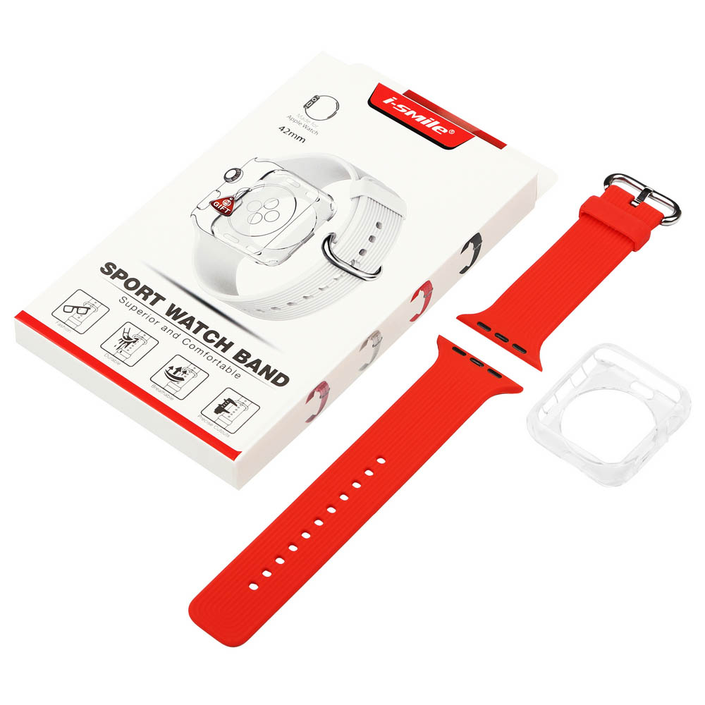 Ремінець BECOVER для Apple Watch Universal (42mm) IPH1446 Red (702417) Сумісність Apple Watch 42 мм