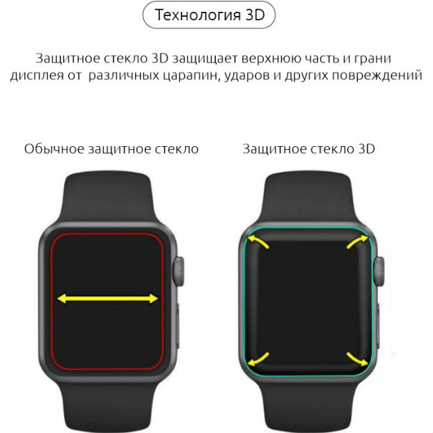 Фото 3 Захисне скло ARMORSTANDART Apple Watch Series 1/2/3 38mm Black (ARM52104)