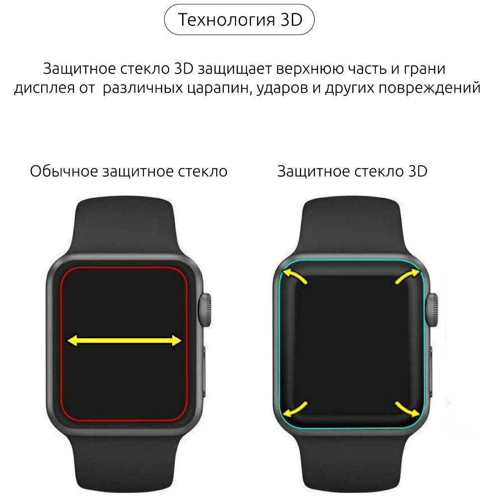 Фото 3 Захисне скло Armorstandart для Apple Watch Series 1/2/3/4 40 мм Black (ARM53469)