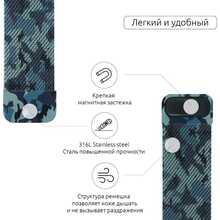 Браслет Armorstandart Milanese Loop Band Apple Military Watch Blue (ARM52953)