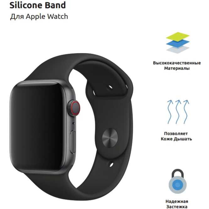 Ремешок Armorstandart Sport Band Apple Watch Black (ARM49096) Совместимость Apple Watch 38 мм