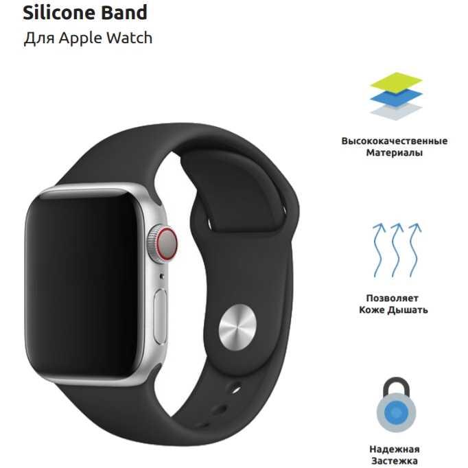 Ремешок Armorstandart Sport Band Apple Watch Dark Grey (ARM51941) Тип ремешок