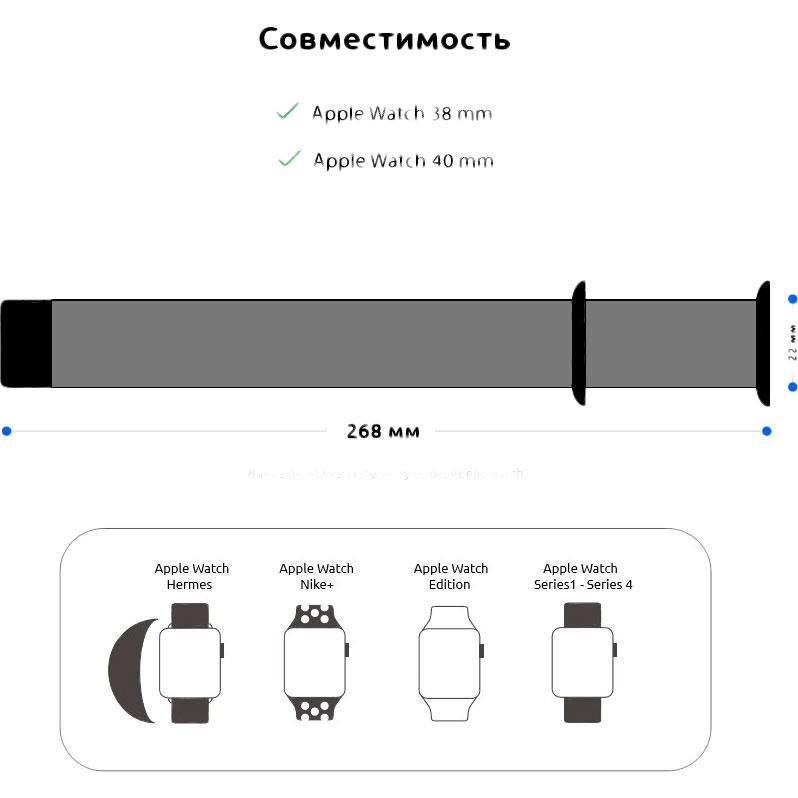 Фото 3 Ремінець ARMORSTANDART Apple Watch Mint (ARM51938)
