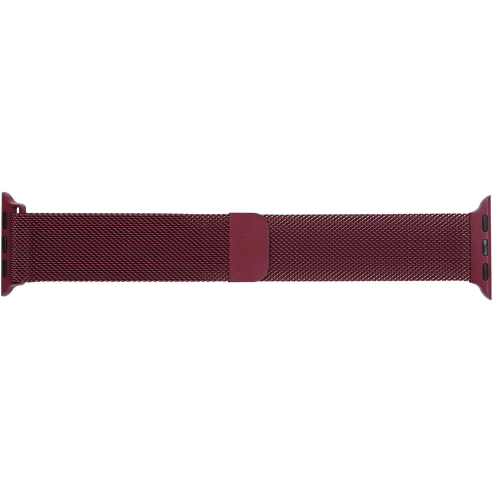 Браслет ARMORSTANDART Milanese Loop Band для Apple Watch All Series 38-40 мм Burgundy (ARM55255)