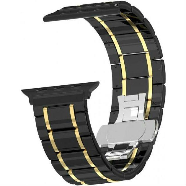 Браслет XOKO Apple Watch 38/40mm Ceramic Black-Gold (XK-AP-CERBKGD) Тип браслет