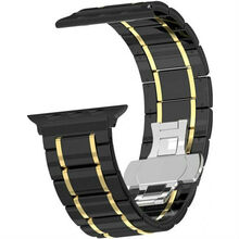 Браслет XOKO Apple Watch 38/40mm Ceramic Black-Gold (XK-AP-CERBKGD)