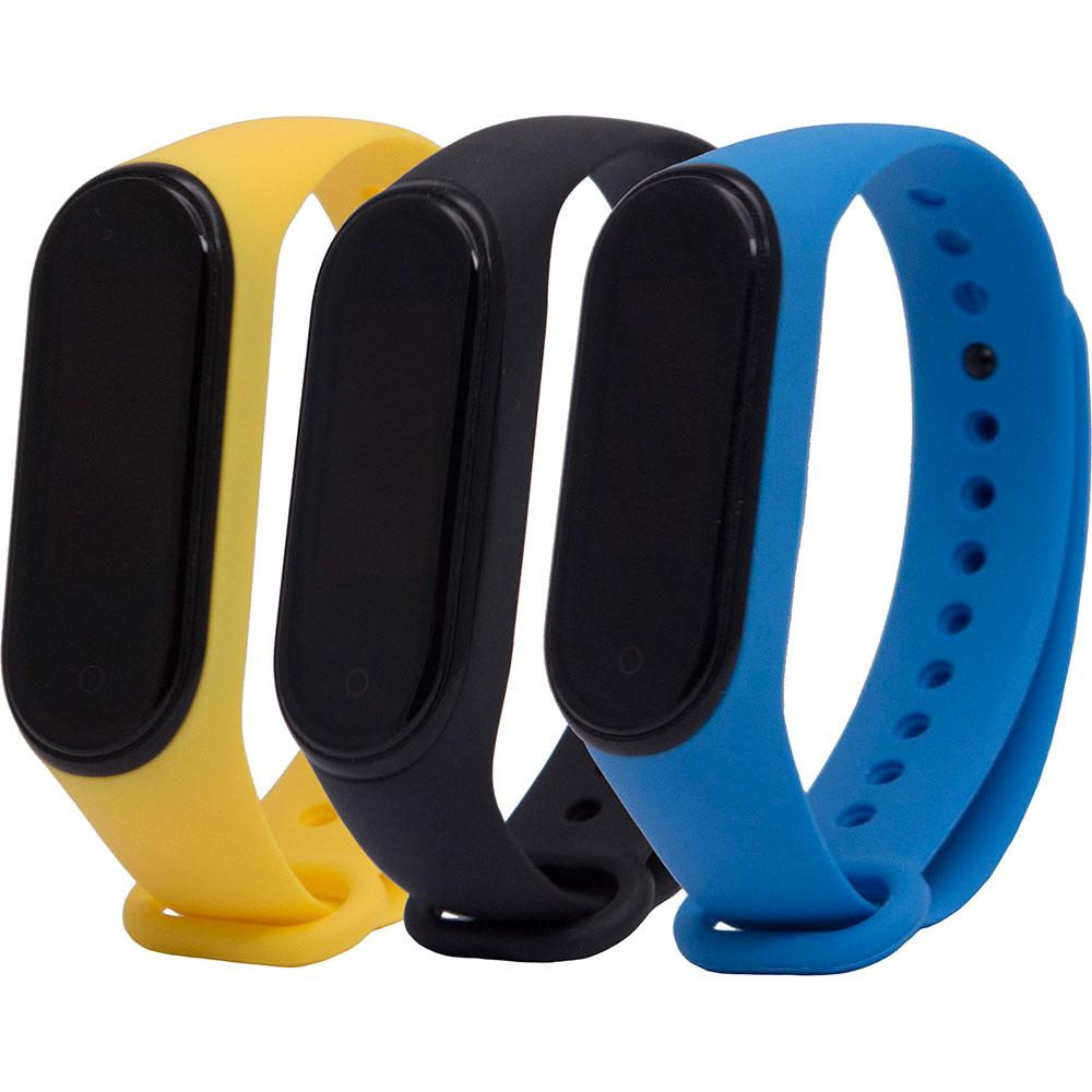 Комплект ременів для Xiaomi Mi Band 4/3 Black/ Royal Blue/ Yellow (ARM56233)