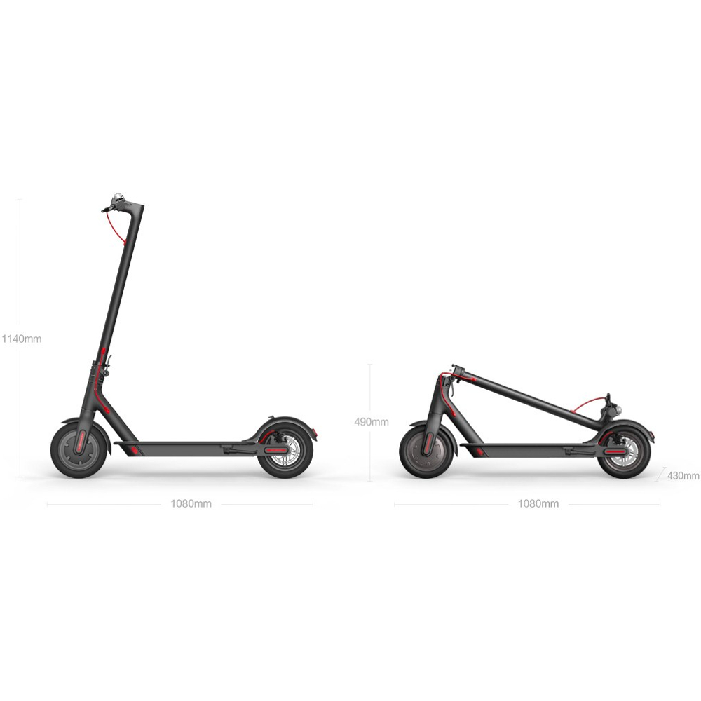 Електросамокат XIAOMI Mi Electric Scooter (Black) Максимальна потужність, Вт 250