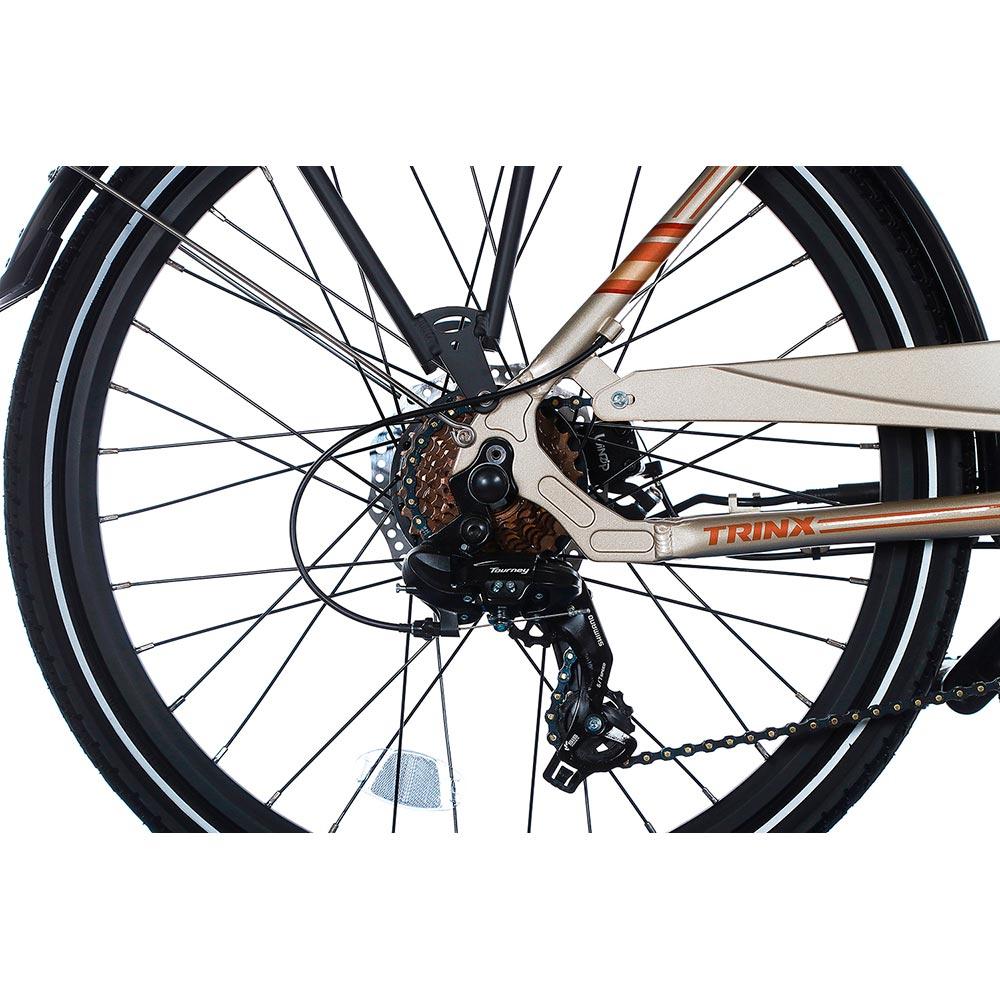 Электровелосипед TRINX E-Bike Sella 2.0 17 Champagne-Gold Запас хода, км 50