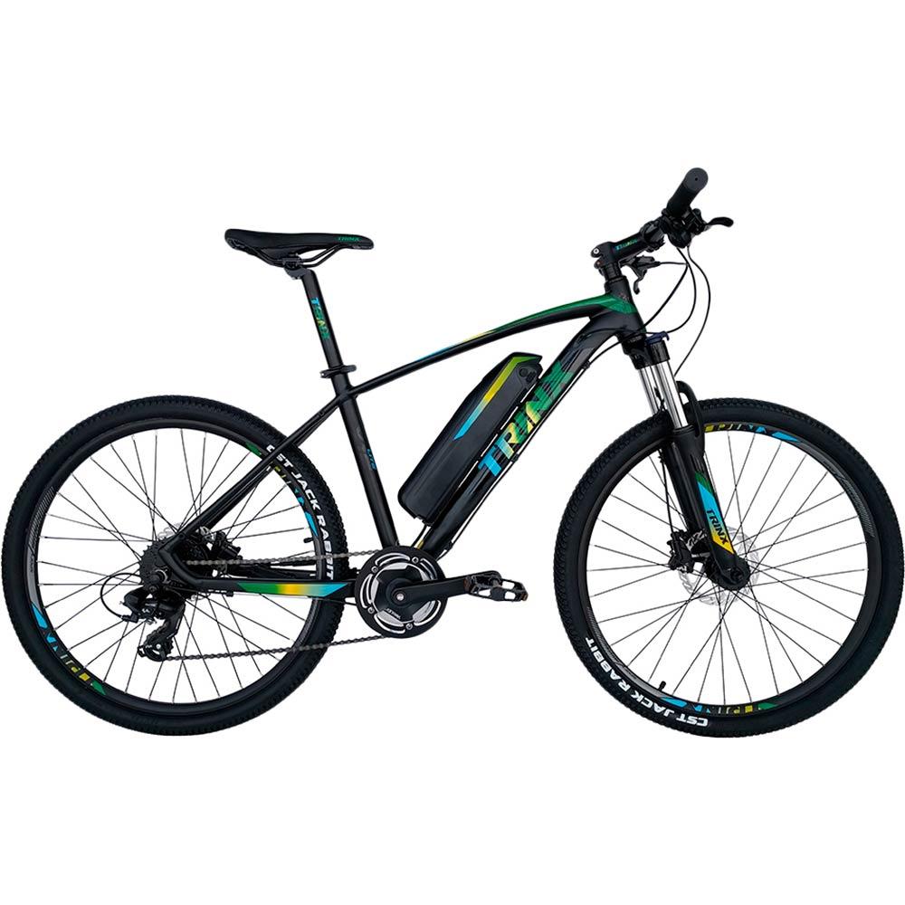 Электровелосипед TRINX E-Bike X1E 17 Matt-Black-Green-Blue (X1EMBGB)