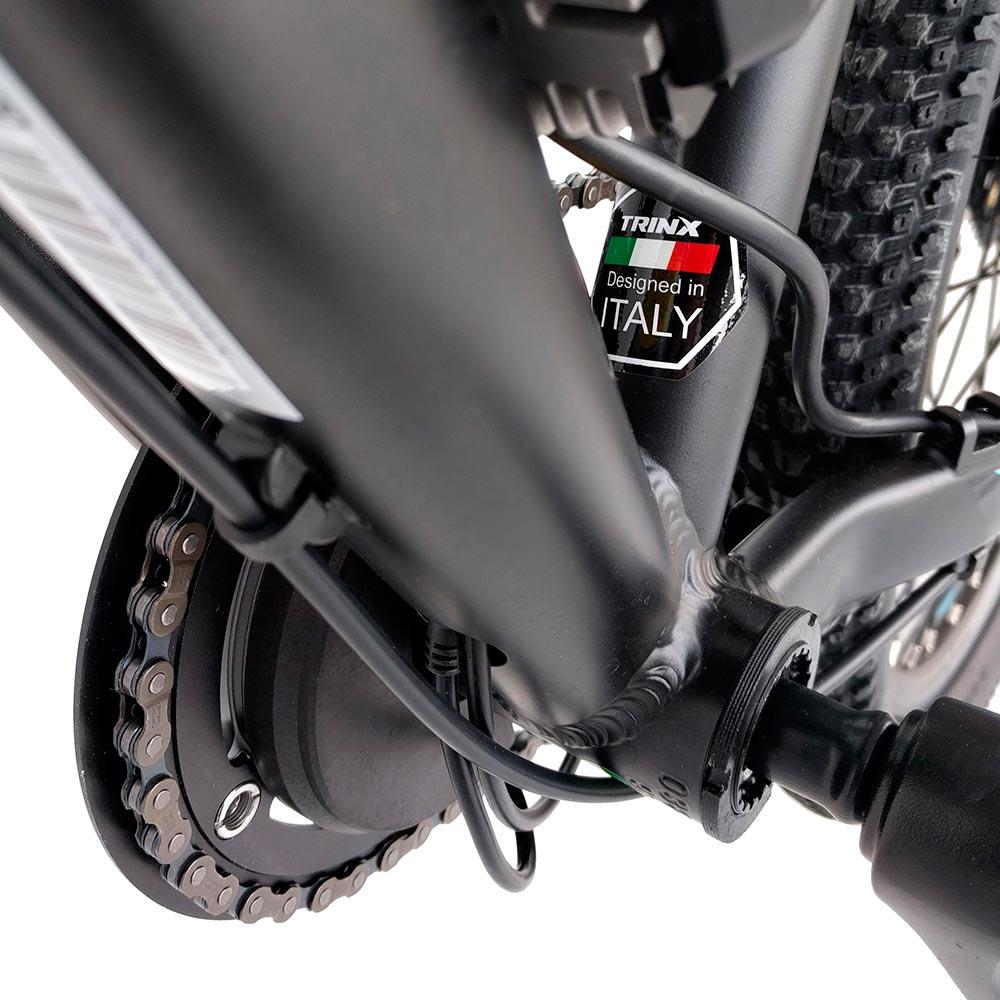 Электровелосипед TRINX E-Bike X1E 17 Matt-Black-Green-Blue (X1EMBGB) Максимальная мощность, Вт 250