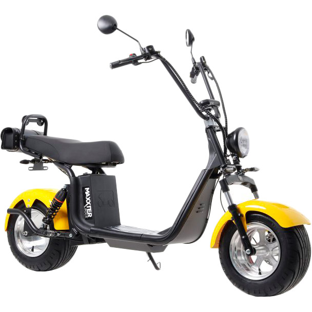 Электроскутер MAXXTER ROCK Black/Yellow Максимальная скорость, км/ч 45