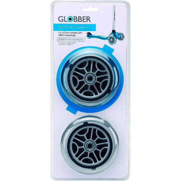 Запчасть к самокатам GLOBBER серии Primo/Elite/Evo/Flow Набор колес 121 мм блистер (526-008)