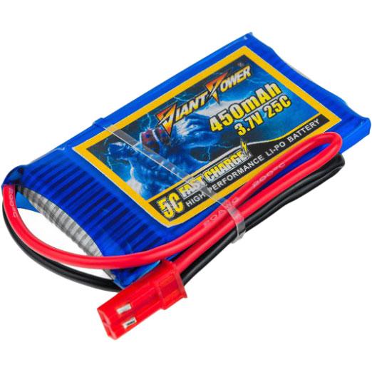 Акумулятор DINOGY Li-Pol 450mAh 1S 25C JST (DLC-1S450B-JST)