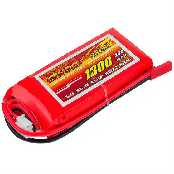 Акумулятор DINOGY Li-Pol 1300mAh 7.4 V 2S 30C JST (DLC-2S1300D-JST)