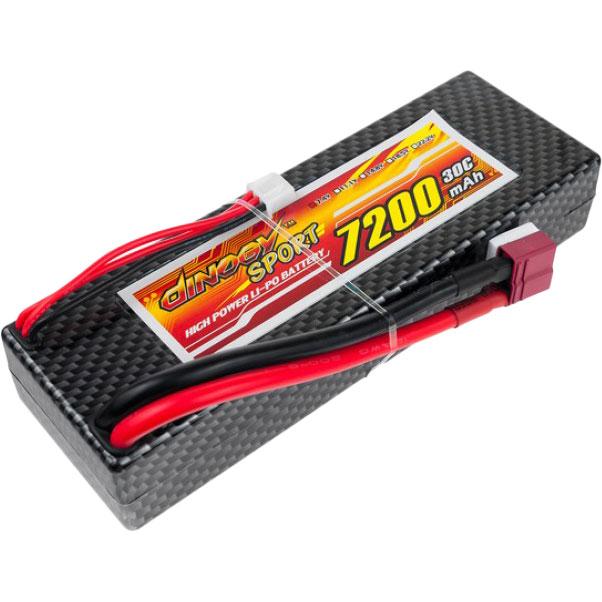 Акумулятор DINOGY Li-Pol 7200mAh 7.4 V 2S 30C T-Plug