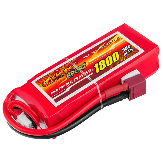 Аккумулятор DINOGY Li-Pol 1800mAh 11.1V 3S 30C T-Plug (DLC-3S1800D-T)