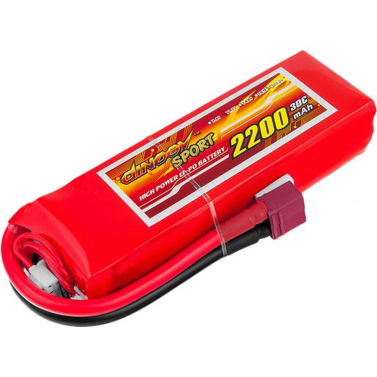 Аккумулятор DINOGY Li-Pol 2200mAh 11.1V 3S 30C T-Plug